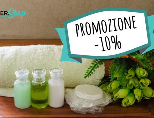 OFFERTA lancio nuovo sito ecommerce Detershop: -10% su TUTTE le LINEE CORTESIA hotel in vendita online
